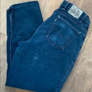 Vintage 90's Levi's Silvertab Dark Blue Jean Baggy